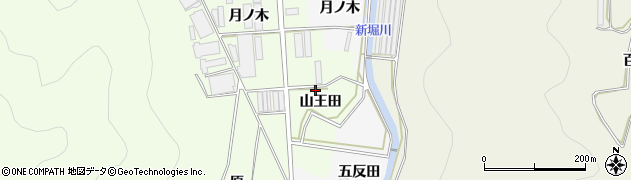 愛知県田原市石神町(山王田)周辺の地図