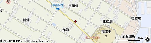 愛知県田原市中山町(宇須畑)周辺の地図