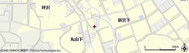 愛知県田原市八王子町(丸山下)周辺の地図