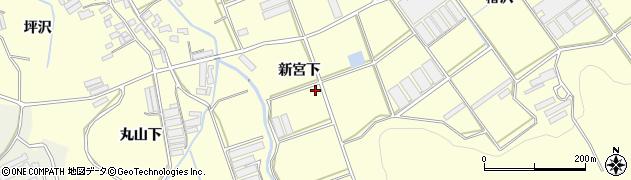 愛知県田原市八王子町(新宮下)周辺の地図
