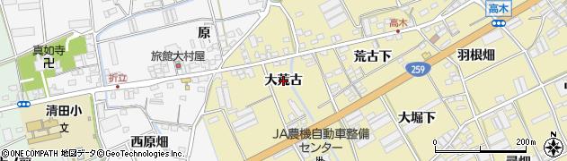 愛知県田原市高木町(大荒古)周辺の地図
