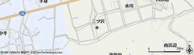 愛知県田原市南神戸町(三ツ沢)周辺の地図