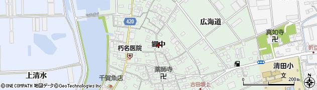 愛知県田原市古田町(郷中)周辺の地図