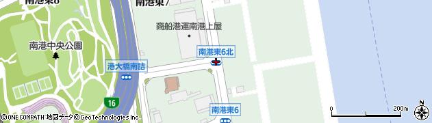 南港東6北周辺の地図