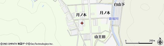 愛知県田原市石神町(月ノ木)周辺の地図
