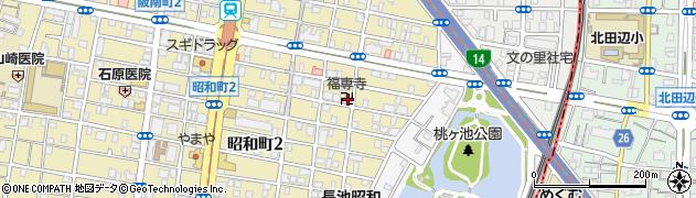 福専寺周辺の地図