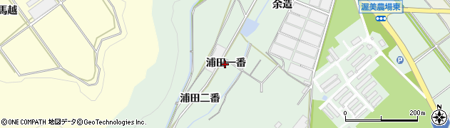 愛知県田原市赤羽根町(浦田一番)周辺の地図