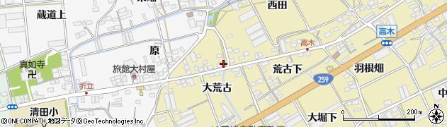 愛知県田原市高木町(脇荒古)周辺の地図