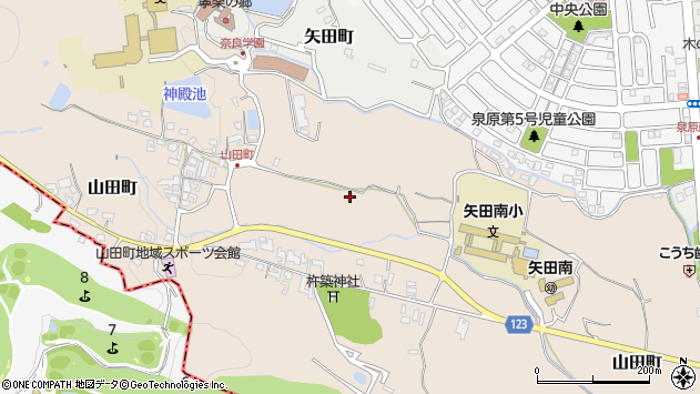 〒639-1057 奈良県大和郡山市山田町の地図
