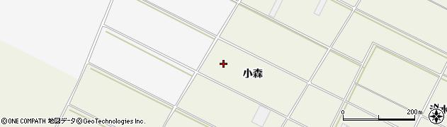 愛知県田原市中山町(小森)周辺の地図