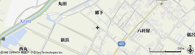 愛知県田原市中山町(新浜)周辺の地図