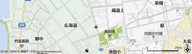 愛知県田原市古田町周辺の地図
