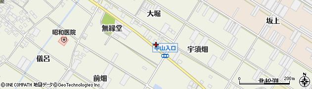愛知県田原市中山町(南大堀)周辺の地図