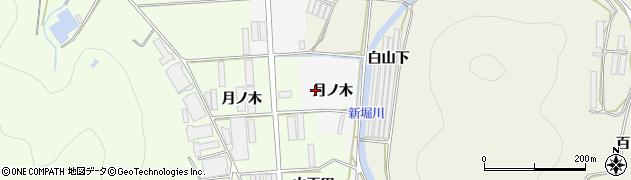 愛知県田原市伊川津町(月ノ木)周辺の地図