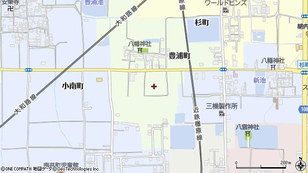 〒639-1022 奈良県大和郡山市豊浦町の地図