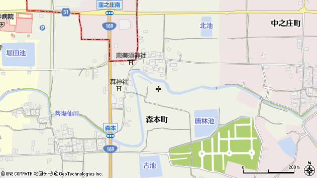 〒632-0007 奈良県天理市森本町の地図