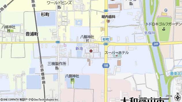 〒639-1121 奈良県大和郡山市杉町の地図