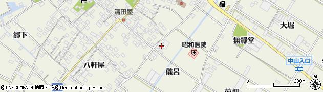 愛知県田原市中山町(儀呂)周辺の地図