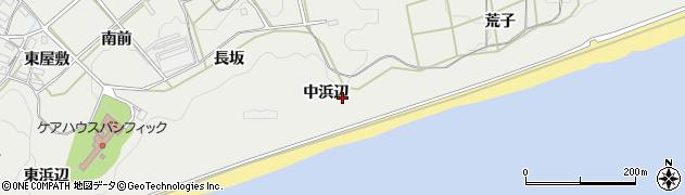 愛知県田原市南神戸町(中浜辺)周辺の地図