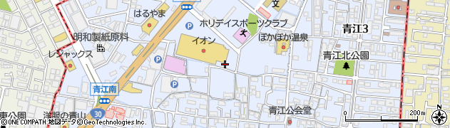 岡山県岡山市北区青江周辺の地図