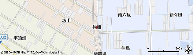 愛知県田原市福江町(仲畑)周辺の地図