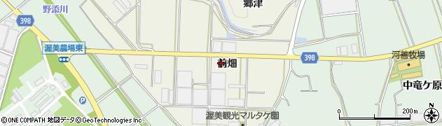 愛知県田原市芦町(前畑)周辺の地図