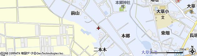 愛知県田原市大草町(前山)周辺の地図