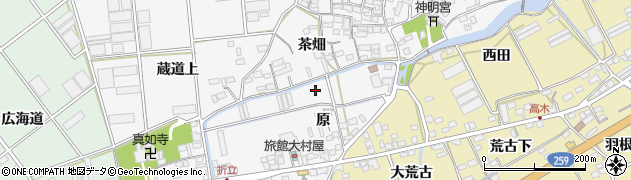 愛知県田原市折立町周辺の地図