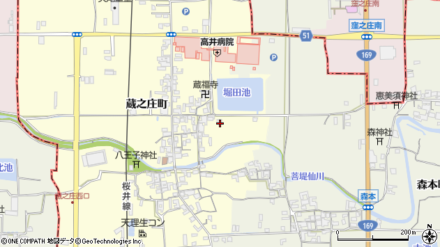 〒632-0006 奈良県天理市蔵之庄町の地図