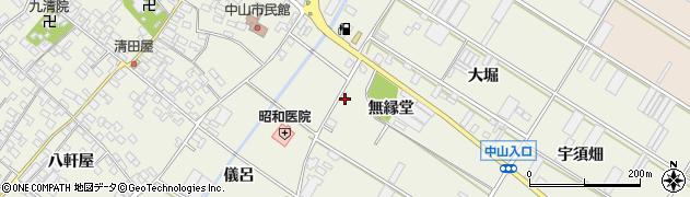 愛知県田原市中山町(前畑)周辺の地図
