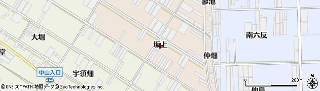 愛知県田原市福江町(坂上)周辺の地図