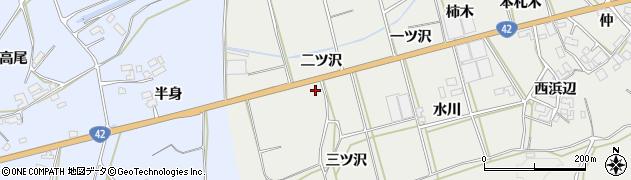 愛知県田原市南神戸町(二ツ沢)周辺の地図