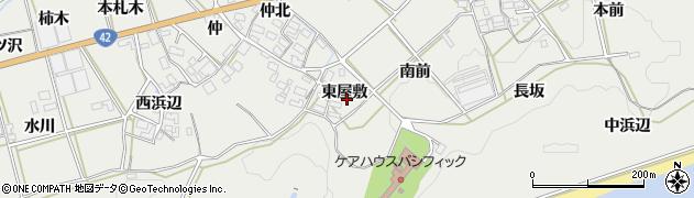 愛知県田原市南神戸町(東屋敷)周辺の地図