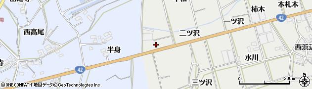 愛知県田原市南神戸町(平松)周辺の地図