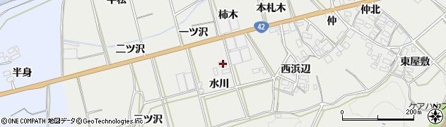 愛知県田原市南神戸町(水川)周辺の地図