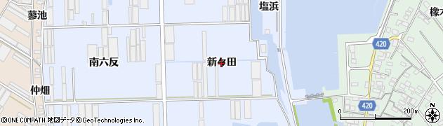 愛知県田原市向山町(新々田)周辺の地図