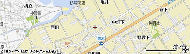 愛知県田原市高木町(中畑下)周辺の地図