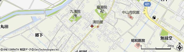 愛知県田原市中山町(成美)周辺の地図