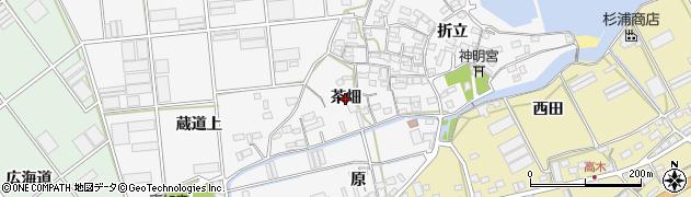 愛知県田原市折立町(茶畑)周辺の地図
