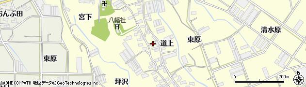 愛知県田原市八王子町(道上)周辺の地図