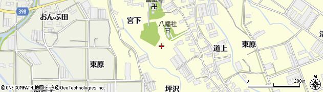 愛知県田原市八王子町周辺の地図