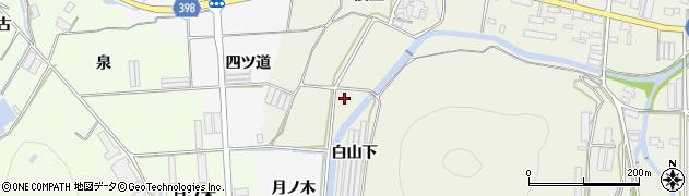 愛知県田原市村松町(白山下)周辺の地図