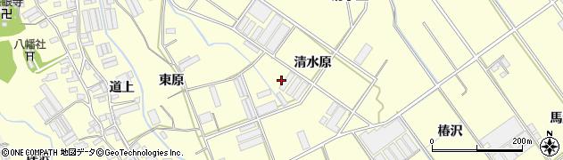 愛知県田原市八王子町(清水原)周辺の地図