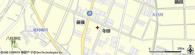 愛知県田原市高松町(寺田)周辺の地図