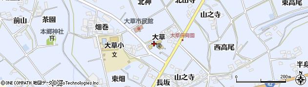 愛知県田原市大草町(南左位神)周辺の地図