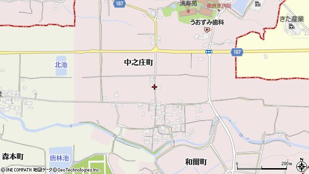 〒632-0001 奈良県天理市中之庄町の地図