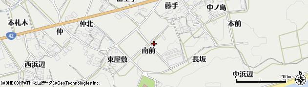 愛知県田原市南神戸町(南前)周辺の地図
