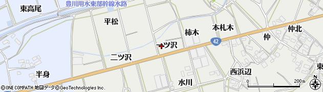 愛知県田原市南神戸町(一ツ沢)周辺の地図