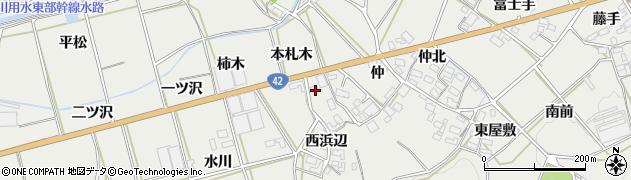 愛知県田原市南神戸町(本札木)周辺の地図