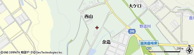 愛知県田原市赤羽根町(余造)周辺の地図
